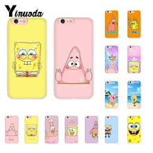 Yinuoda Funny SpongeBob Patrick Best Friends DIY Luxury Case for iPhone 8 7 6 6S Plus X XS MAX 5 5S SE XR 10 Cover(China)