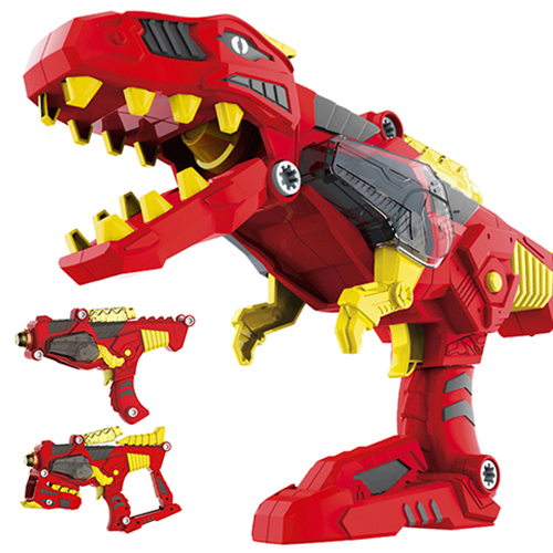3 In 1 Transformation Dinosaur DIY Toy Gun Kids Building Assembly Toy With Lifelike Design Colorful Light Realistic Sound Effect scary lifelike spider toy with squeeze to sound effects