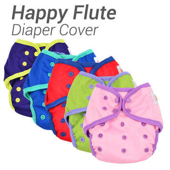 12pcs/ Lot Happy Flute Diaper Cover One Size Cloth Diaper Waterproof PUL Breathable Reusable Diaper Covers for Baby Fit 3-15kg - DISCOUNT ITEM  0% OFF All Category