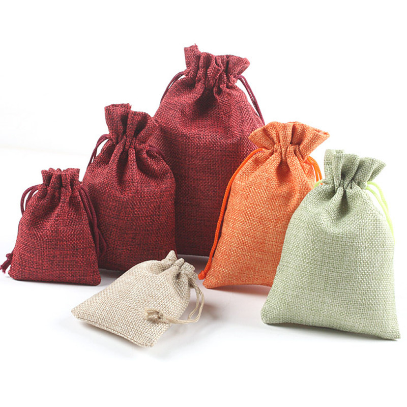 Home & Garden Lower Price with 5pcs Linen Jute Bag Drawstring Dragee Gift Bags Sacks Wedding Birthday Party Favors Drawstring Gift Bags Baby Shower Supplies Non-Ironing