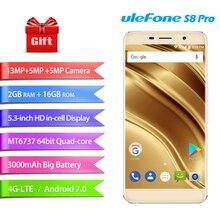 Оригинал Ulefone S8 Pro 4 г Móviles Android 7.0 2 ГБ Оперативная память 16 ГБ Встроенная память Quad Core смартфон Dual сзади Камера 720 P 5.3 «сотовый телефон