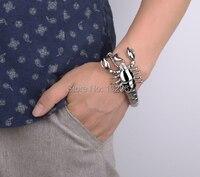 Biker Stainless Steel Scorpion Bracelet Men S Gothic Bangle For Christmas Gift