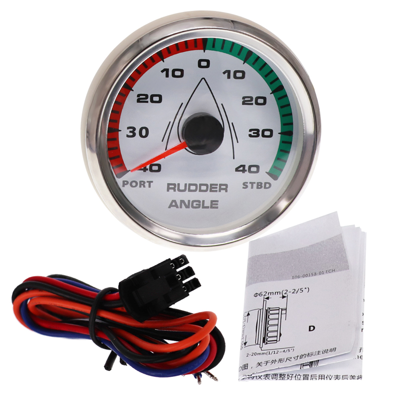Color : C Waterproof 85mm Rudder Angle Indicator Gauge Meter 0-190ohm With Mating Sensor With Backlight