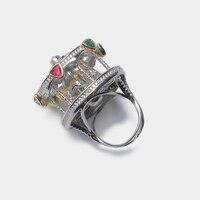 Круглый дизайн для стильного большого кольца