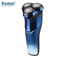Hot KM 7350 Electric Shaver Waterproof Men S Beard Knife Intelligent Double Face Floating Shaving Blue