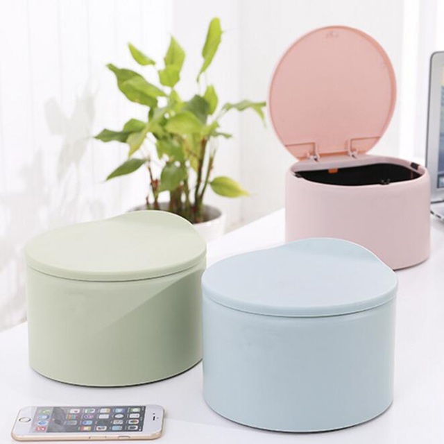 Table top covering Dining Room 1pcs Tabletop Pressing And Covering Type Circular Garbage Can Round Desktop Trash Can Colors 198 Mfrbeecom 1pcs Tabletop Pressing And Covering Type Circular Garbage Can Round