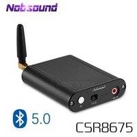 Nobsound mini bluetooth 5.0 de alta fidelidade sem perdas transmissor csr8675 adaptador sem fio optar/coaxial/aux 24bit APTX-HD