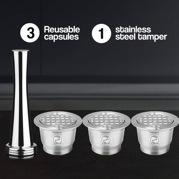 4PC/Set Nespresso Stainless Steel Refillable Coffee Capsule