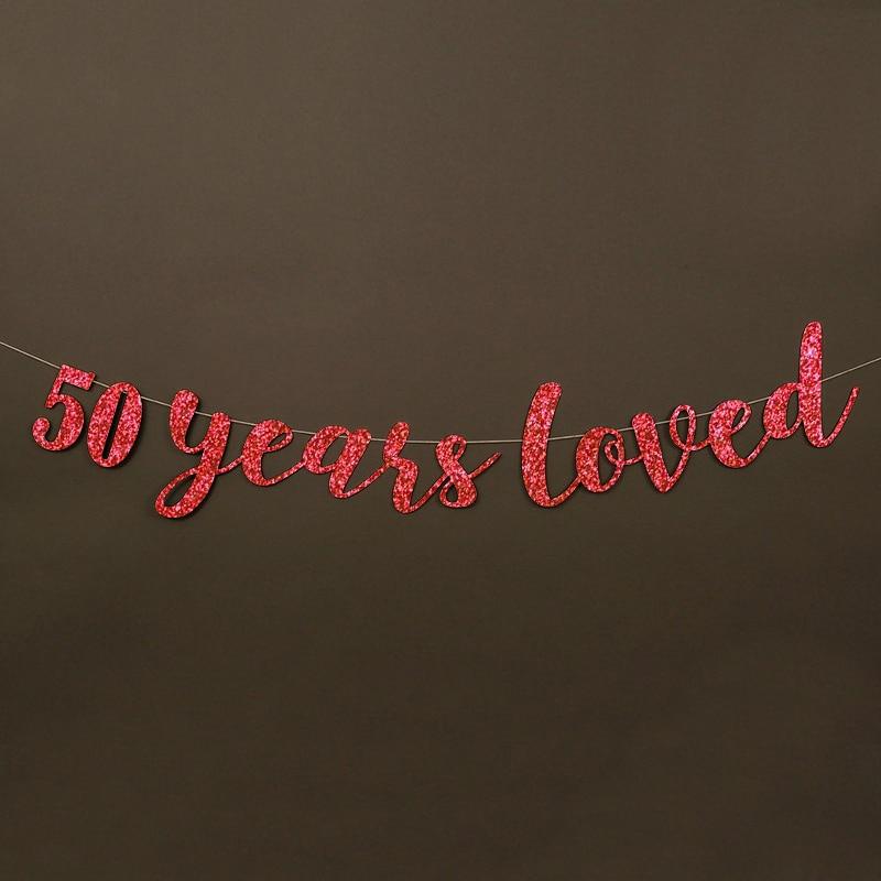50 жыл өте жақсы көретін Glitter Banner 50th - Мерекелік және кешкі заттар - фото 5