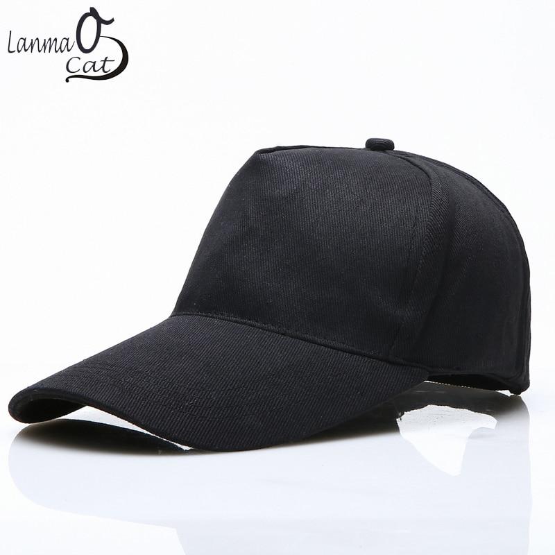 9e0ad15c1b7 Lanmaocat High Quality DIY Your Own Cap Custom Logo Caps Women Men Snapback  Blank Customized Hats Dad Printed Cap Free Shipping-in Baseball Caps from  ...