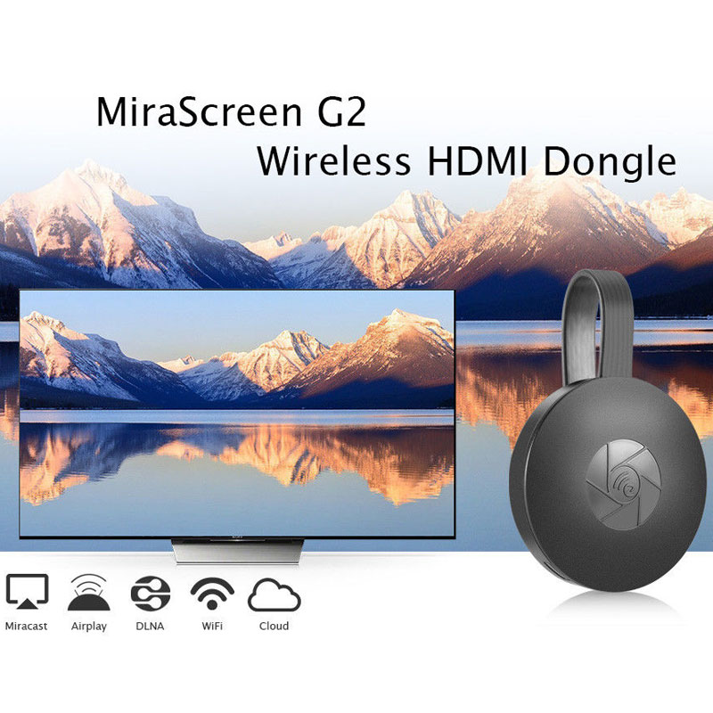 New MiraScreen G2 TV Stick Dongle Anycast Crome Cast Digital HDMI Video Streamer 2nd Generation For Android TV Free Shipping