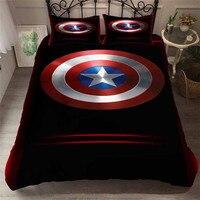HELENGILI 3D Bedding Set The Avengers Captain America Super Hero Print Duvet Cover Set Bedcloth with Pillowcase Home Textiles