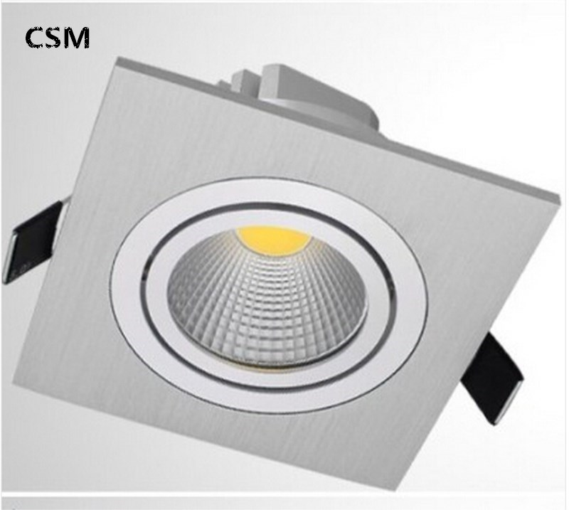 new style e0136 66c9a US $6.8 |Square LED COB Downlight 7w LED Recessed Ceiling Down light led  cob Spot Light Dimmable LED Downlight COB AC90 260V-in LED Downlights from  ...