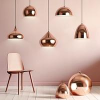 Modern Pendant Lamp Creative Mirror Copper Hanglamp Metal Pendant lights for living room kitchen bar Suspension Light Fixture
