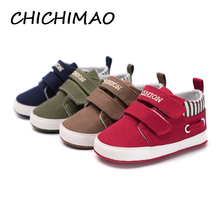CHICHIMAO Infant Babies Boy Girl Shoes Sole Soft Canvas Solid Footwear For Newborns Toddler Crib Moccasins 4 Colors Available(China)