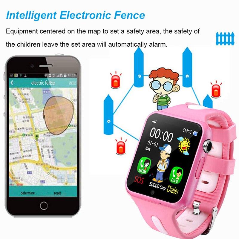 Montre intelligente enfants V5K enfant bande GPS piste Sport enfant Smartwatch étanche Support carte SIM caméra sécurité téléphone bébé montres - 2