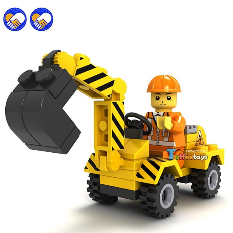 A toy A dream JIE STAR City Construction Team Excavator Building Blocks Sets Bricks Model Kids Toys Compatible Legoingly