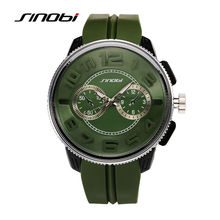 SINOBI 2017 Luxury Military Watch Men Quartz Analog Clock Silicone Strap Clock Man Sports Watches Army Relogios Masculino G27