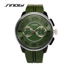 SINOBI 2017 Homens Relógio de Luxo Militar Relógio Analógico Silicone Strap Relógio de Quartzo Homem Relógios Desportivos Exército Relogios Masculino G27