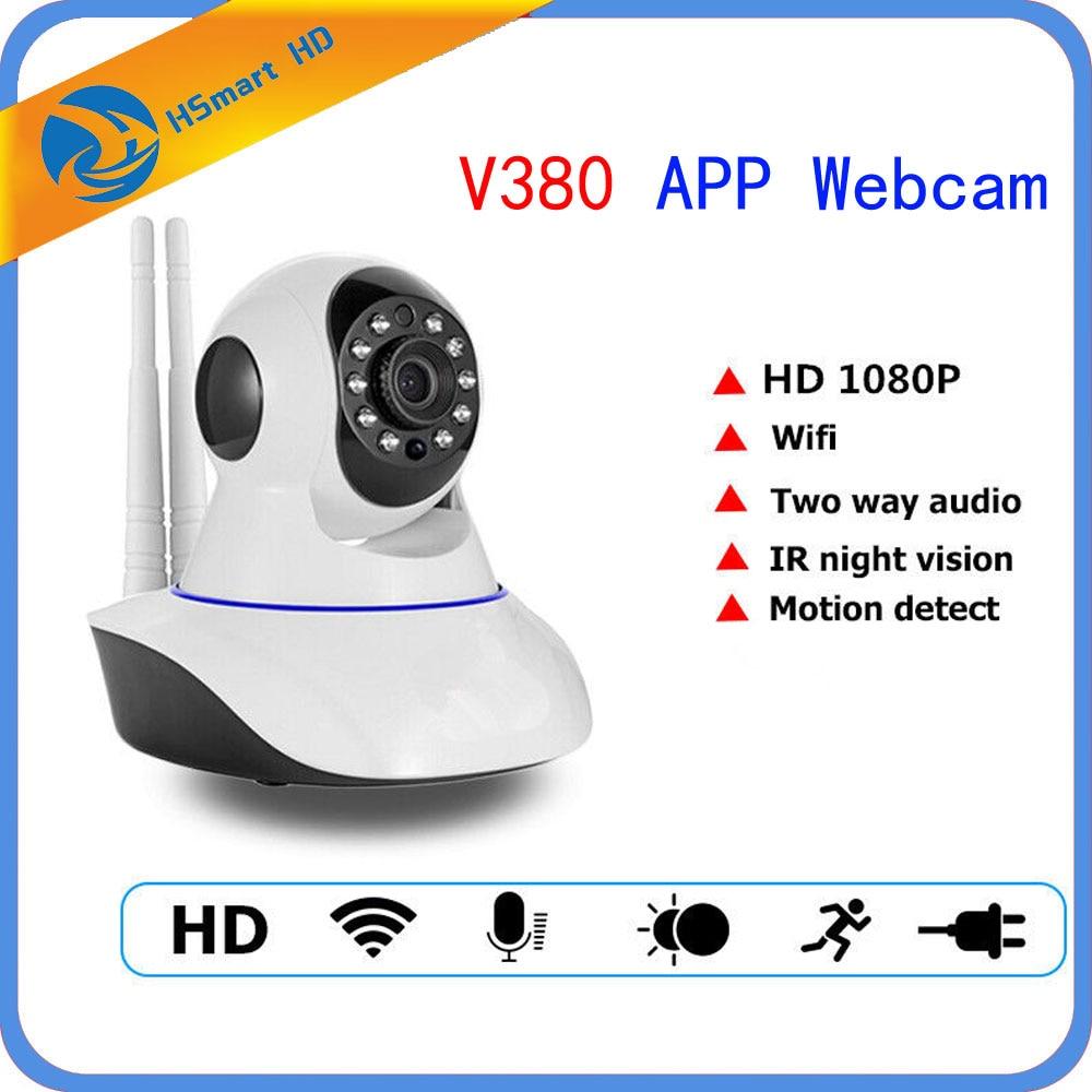 2MP HD 1080P PTZ Wifi IP Camera IRCut NightVision TwoWay Audio V380 APP Webcam ...
