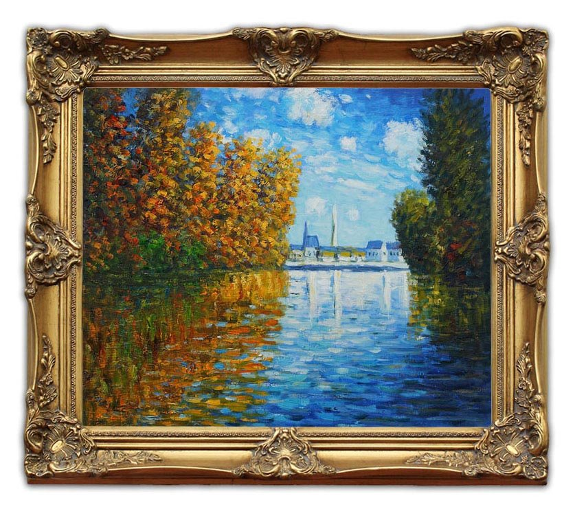6406 Wooden Oil Painting Frames Autumn at Argenteuil Monet Landscape ...