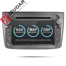 Isudar 2 Din Автомобильный мультимедийный плеер Android 9 для Alfa Romeo Mito 2008-CANBUS Авто Радио четырехъядерный Видео DVD gps система USB DVR