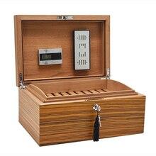 Твердая древесина кедра увлажняющий устройства хьюмидор инструменты для некурящих Зебра сигар влаги поле humidors поле sigaren doosje