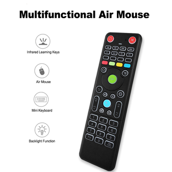 2 4GHz Air Mouse TZ18 Wireless Keyboard Double-side Remote Control w/