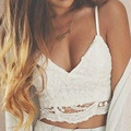 2016 brandy melville tops Bandage spaghetti strap ladies camisole black white lace bralette sexy tank top women summer crop top