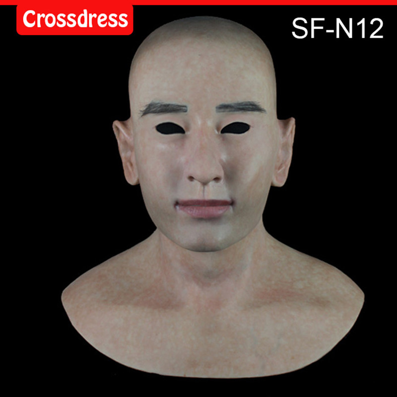 SF-N12 silicone true people mask  costume mask human face mask silicone dropshipping sf 8 silicone true people mask costume mask human face mask silicone dropshipping