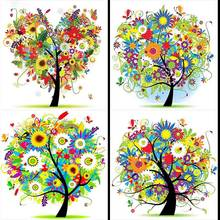 5d diy Diamond Painting Full Square/Round Drill Scenery Tree Mosaic Rhinestone Embroidery Diamond paints beadwork decor gift(China)