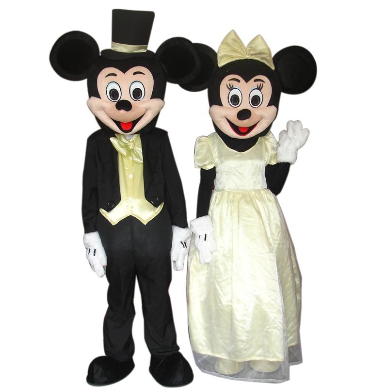Miickey et minie souris mascotte costume cosplay pour adulte fantaisie mascotte costume Halloween costume