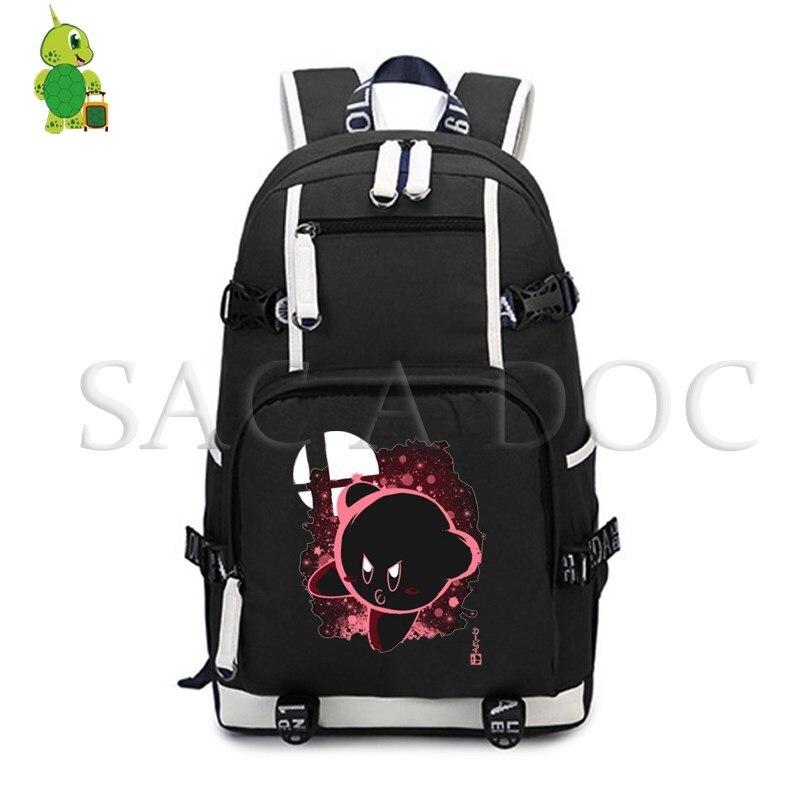 Мультфильм Кирби мета рыцарь т флуоресцентный рюкзак для женщин и мужчин большой рюкзак для ноутбука школьные сумки для подростков повседн