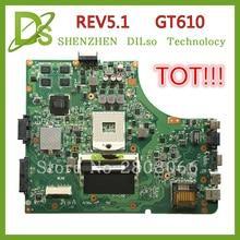 Лидер продаж! для ASUS K53SD материнских плат REV 5.1 материнская плата для ноутбука с Графика карты GT610M 2 ГБ 100% тестирование Бесплатная доставка