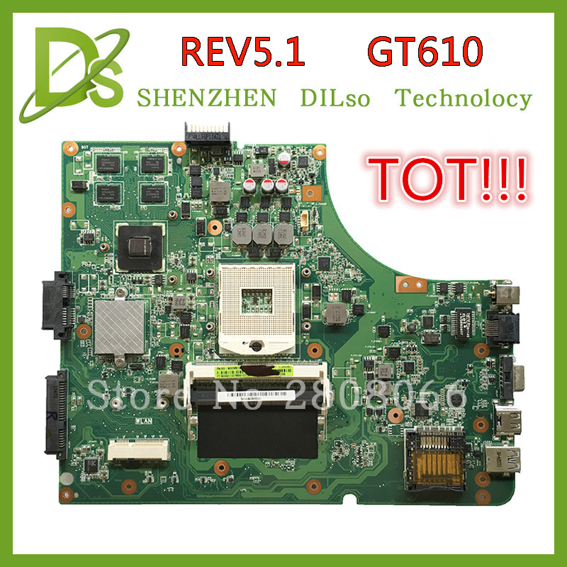 SHUOHU K53SD HOT!!!For Asus K53SD motherboard  REV 5.1 laptop motherboard with Graphics card GT610M 2GB 100% tested freeshipping 45 days warranty laptop motherboard for asus k53b la 7322p with 4 video chips non integrated graphics card 100