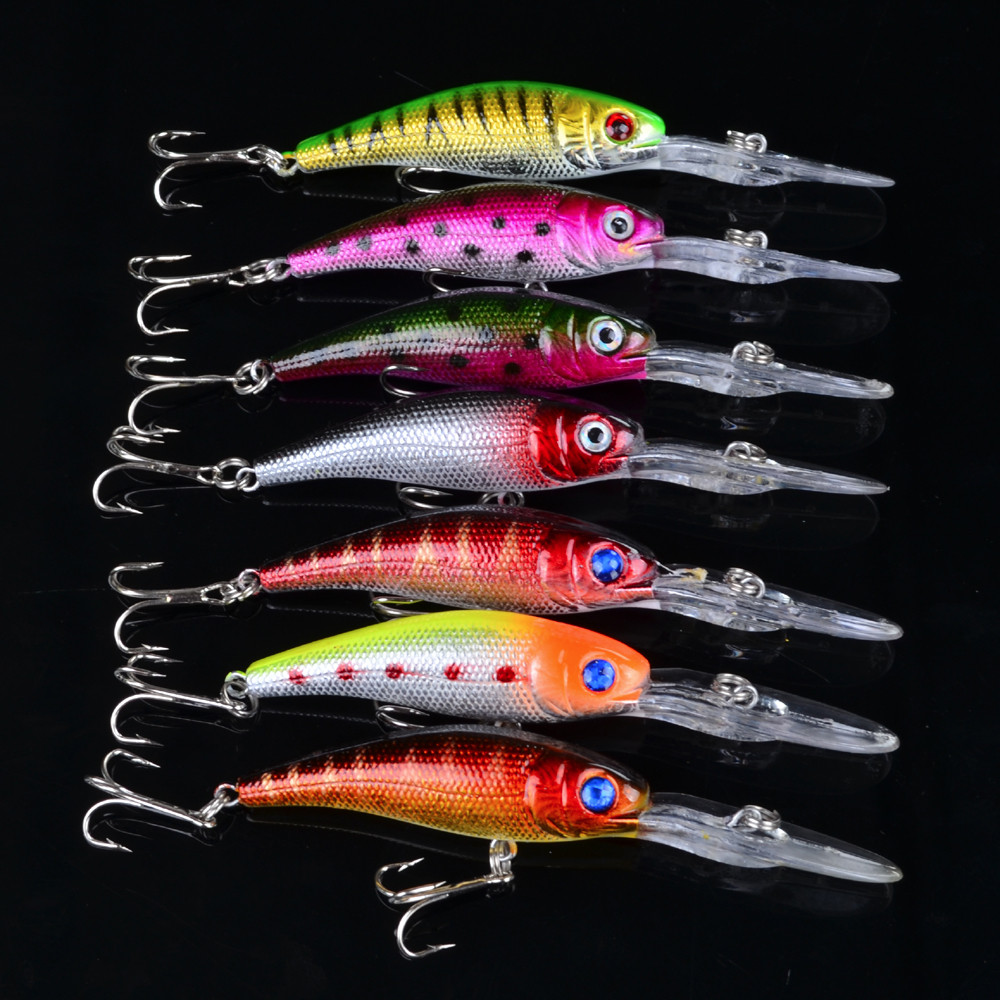 1Pcs Beginner Deep Diving Minnow Lure 10cm 8g 3D eyes For Attract Sea Carp Fly Fishing Baits Tool Wobblers Swim Artificial Fish 1pcs 16 5cm 29g big minnow fishing lures deep sea bass lure artificial wobbler fish swim bait diving 3d eyes