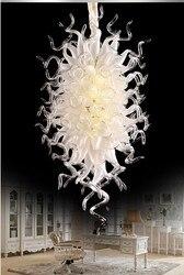 Nowoczesny duży ręcznie dmuchanego szkła żyrandol oświetlenie LED Murano kryształowy żyrandol ze szkła na ślub
