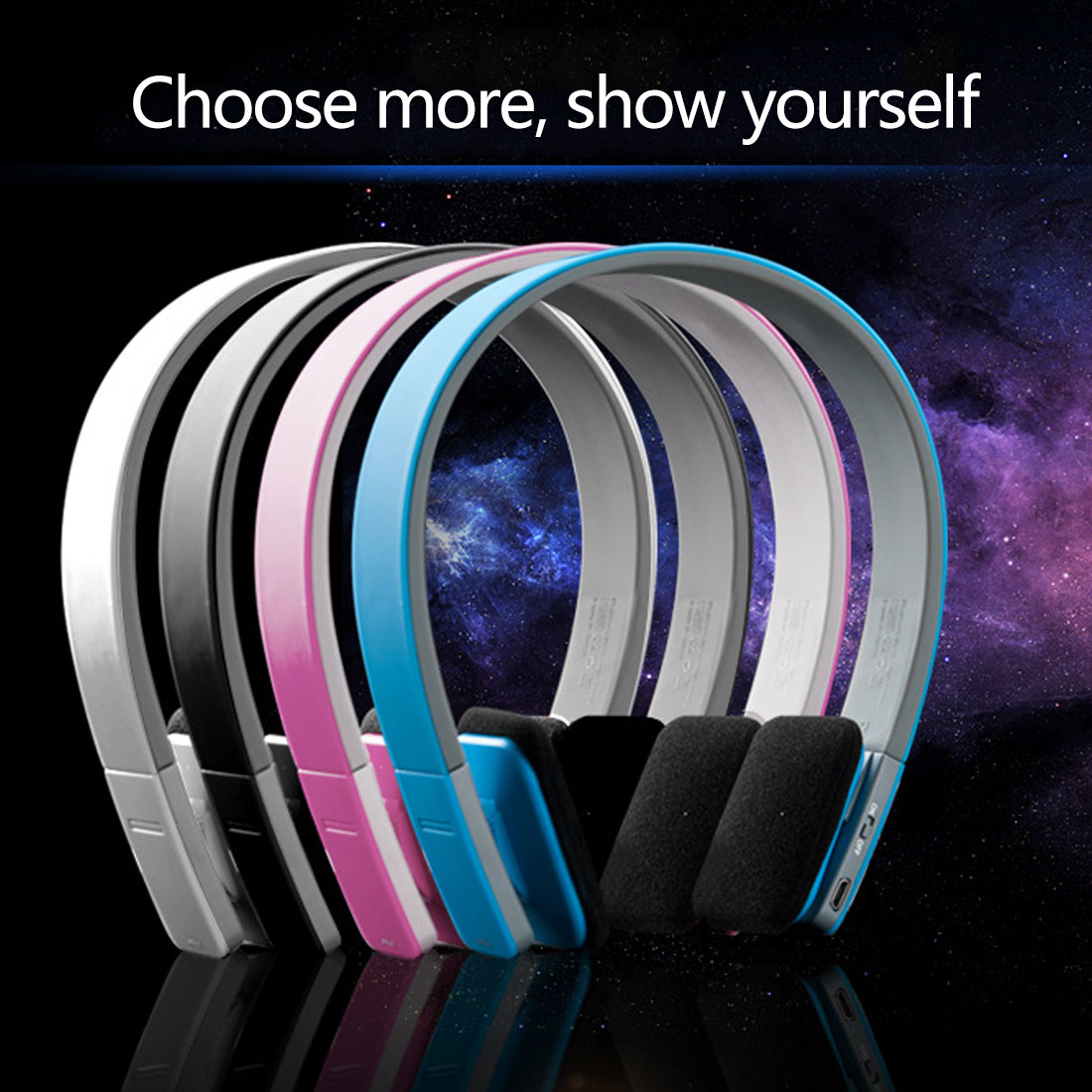 BQ618 Wireless Bluetooth 4.1 EDR Smart Headset Headphone with MIC for Phone Tablet PSP Support 3.5mm Stereo Audio Handsfree