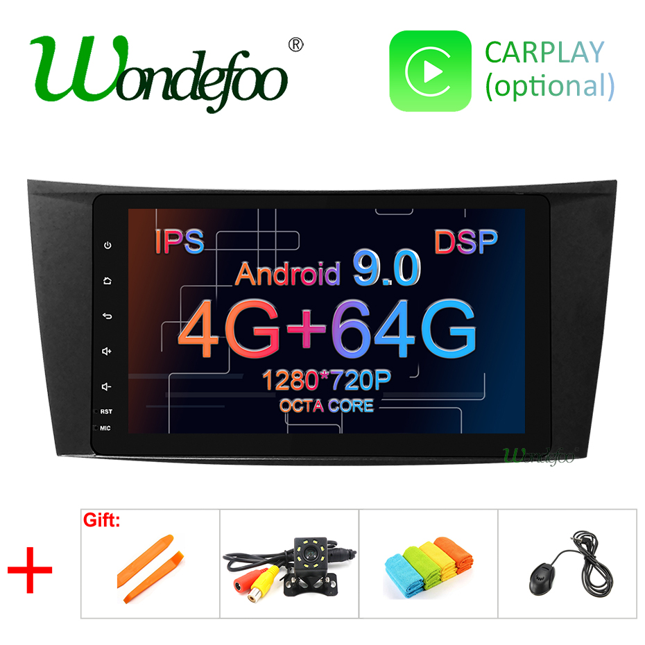 8 IPS DSP 4G 64G Android 9 0 CAR GPS For Mercedes W211 W219 W463 CLS350
