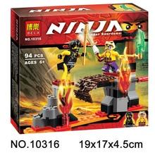 2015 New Original BELA 10316 Ninja Kay Fight Building Blocks Sets 94 pcs Bricks Model Toys Ninjagoes
