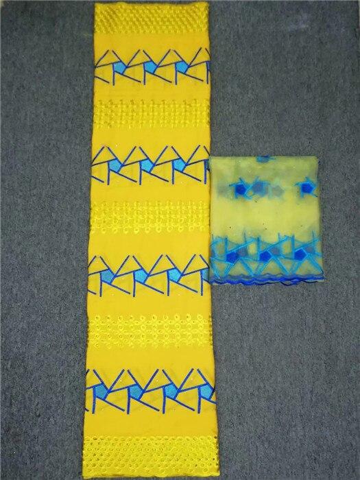 5 + 2 design charmant parti africain coton dentelle tissu avec 2Y suisse voile écharpe dentelle tissu pour mariage/robe de soirée YCV40