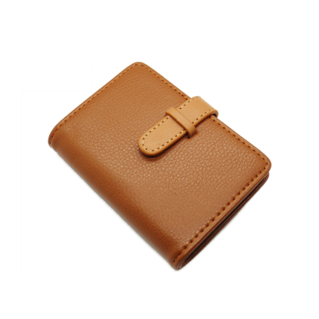 Pu Leather Porte Carte Credit Card Wallet Women Female Girl Business - Porte carte credit