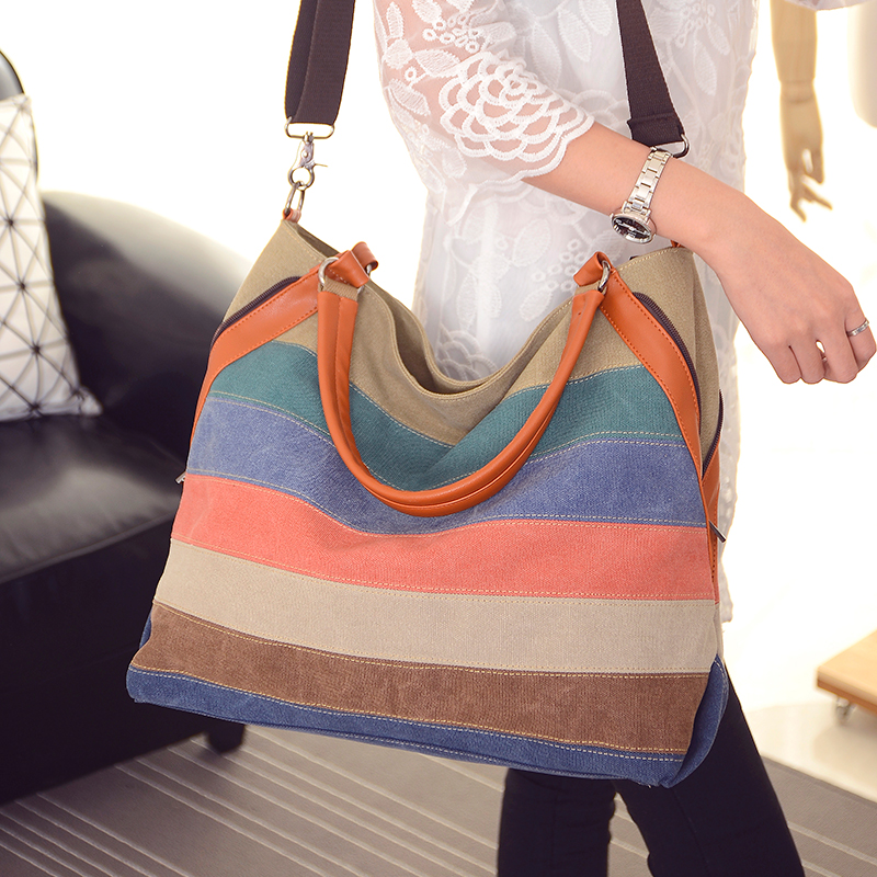 moda patchwork stripe canvas women Dureza : Suave