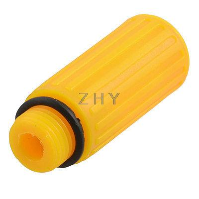 16mm Male Thread Dia Orange Plastic Oil Plug for Air Compressor air compressor o ring 1 2pt thread oil level sight glass