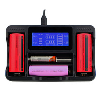 Four Slot Smart LCD Battery Charger for 26650 22650 20700 21700 18650 18490 Lithium Battery GDeals