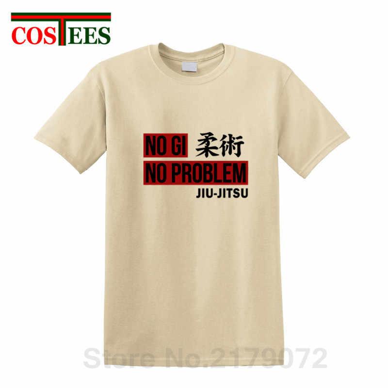 NO GI NO hay problema camiseta Rashguard estampado BJJ Jiu Jitsu camiseta brasileña Jiu Jitsu camiseta para hombre Fitness culturismo hipster camiseta
