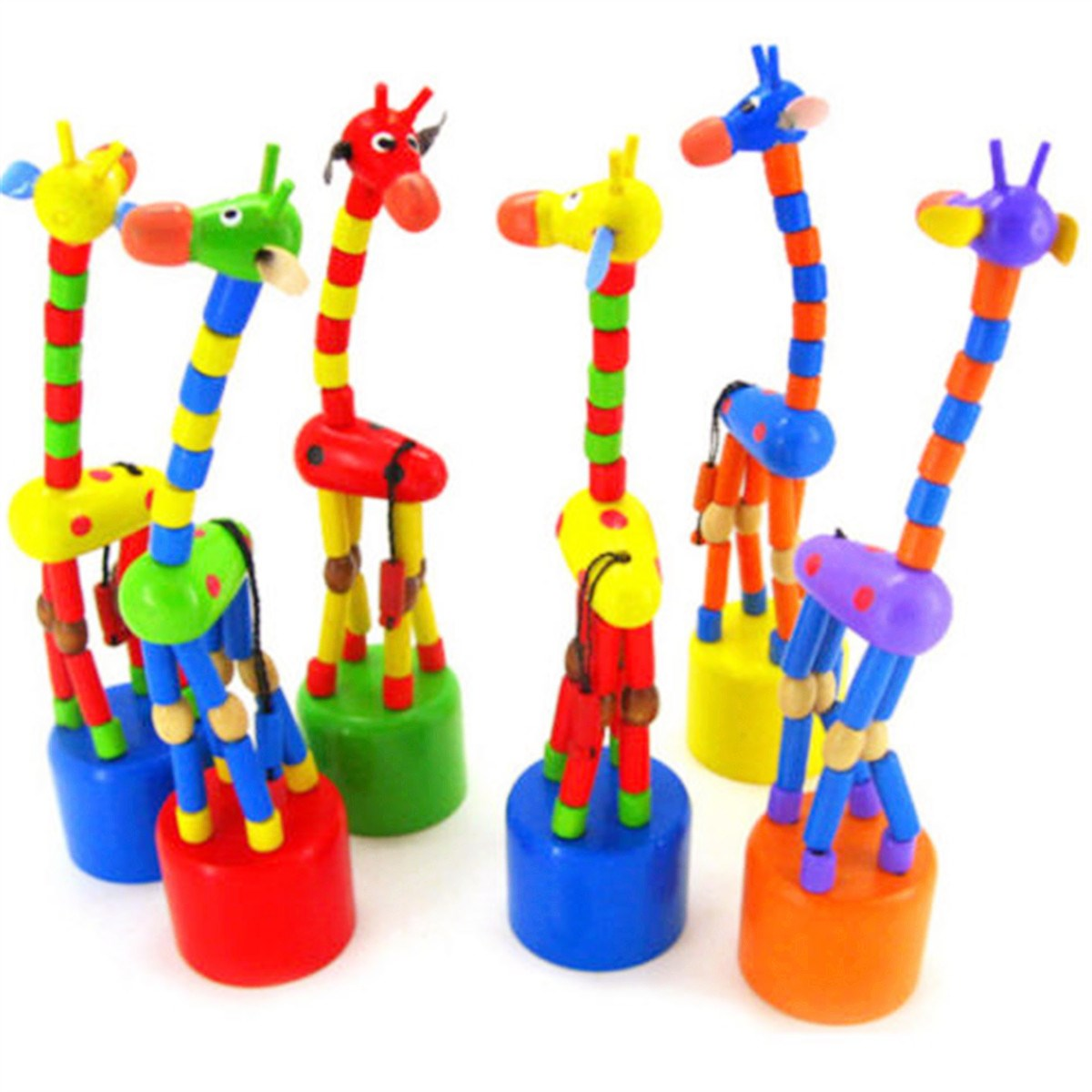 New Rocking Giraffe Wooden Toys Kids Cartoon Colorful Swing Educational Toys For Children Kids Wire Control To Learn Animal Toys magnetic wooden puzzle toys for children educational wooden toys cartoon animals puzzles table kids games juguetes educativos