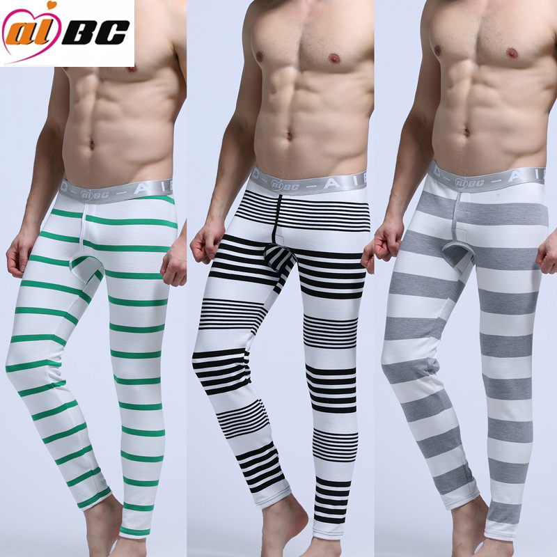 New Men/'s Long Johns Pure Color Pyjama Trousers Casual Loose Thermal Underpants