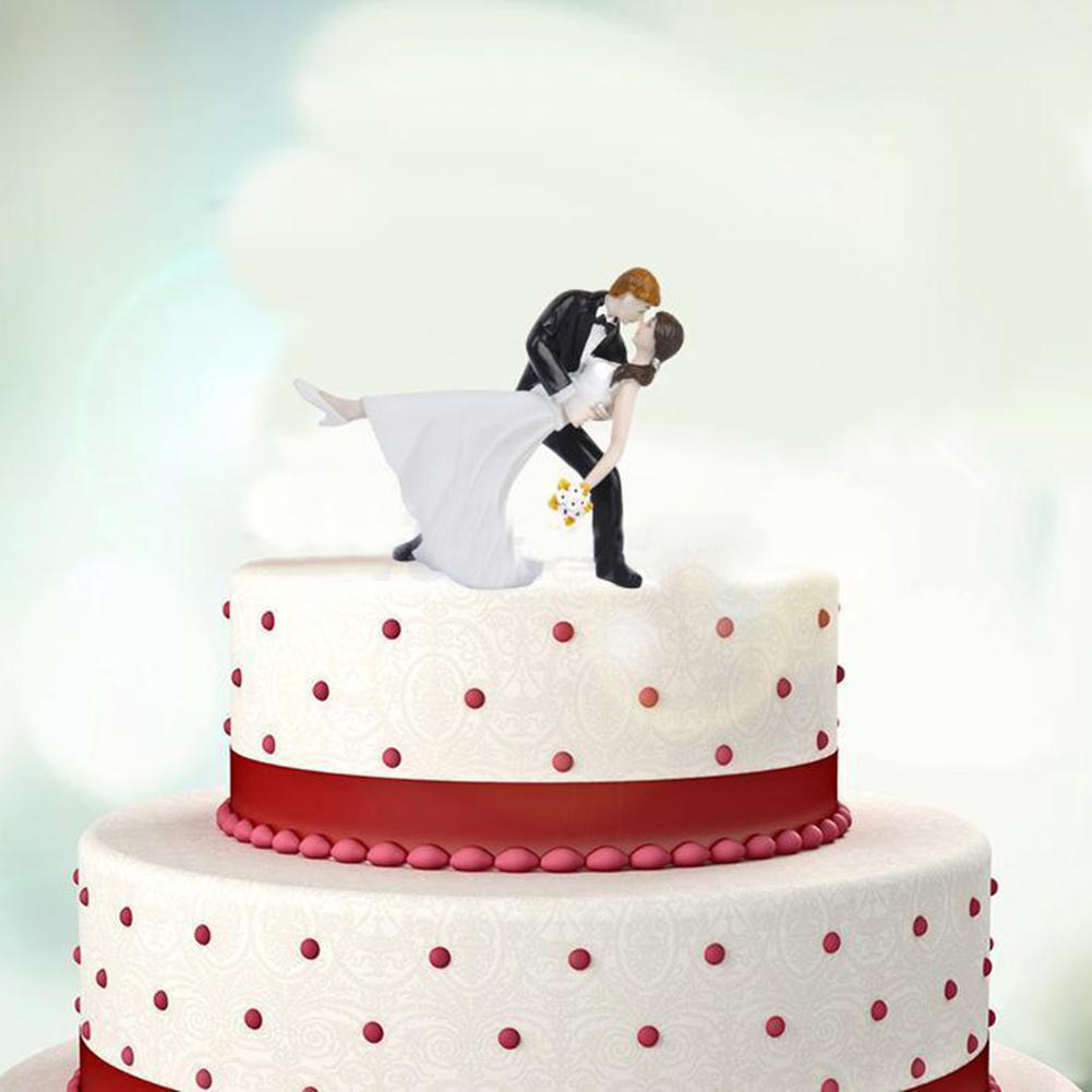 Free Shipping Dancing Bride And Groom Wedding Cake Topper