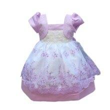 Hot New Baby Kid Girl Puff Sleeve Flower Princess Dress Wedding Party Tulle Tutu Dress цены